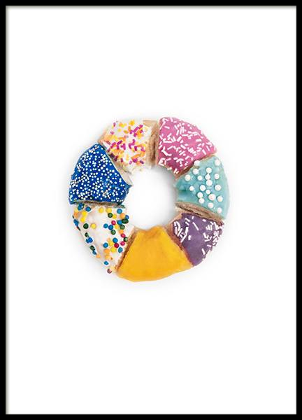 Donut Rainbow Poster in the group Posters & Prints / Kitchen at Desenio AB (12717)