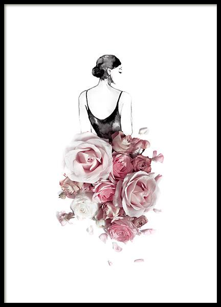 Rose Skirt Poster in the group Posters & Prints / Botanical at Desenio AB (12722)