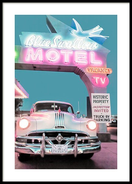 Blue Swallow Motel Poster in the group Posters & Prints / Photography at Desenio AB (12774)