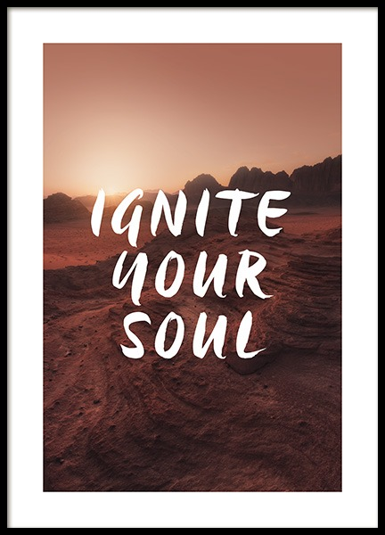 Ignite Your Soul Poster in the group Posters & Prints / Typography & quotes at Desenio AB (12786)