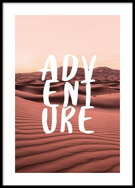 Adventure Landscape Poster in the group Posters & Prints / Typography & quotes at Desenio AB (12789)