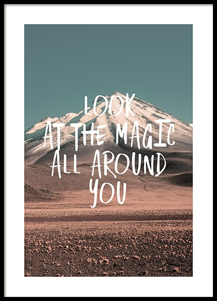 The Magic Around You Poster in the group Posters & Prints / Sizes / 50x70cm | 20x28 at Desenio AB (12790)