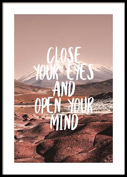 Open Your Mind Poster in the group Posters & Prints / Text posters at Desenio AB (12791)