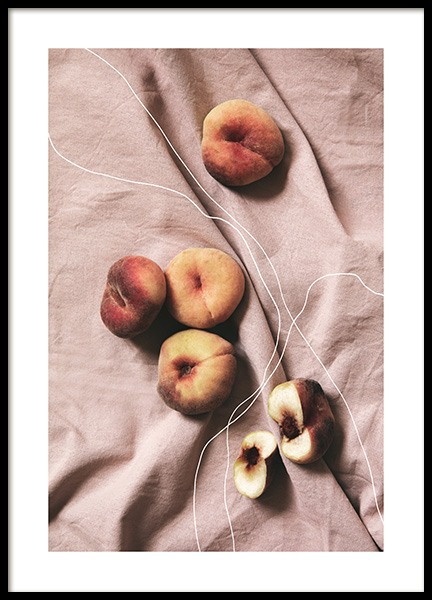Peaches on Linen Poster in the group Posters & Prints / Kitchen at Desenio AB (12815)