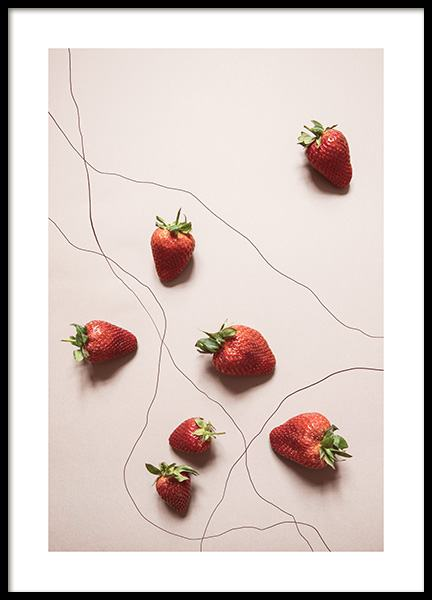 Strawberries Poster in the group Posters & Prints / Kitchen at Desenio AB (12816)