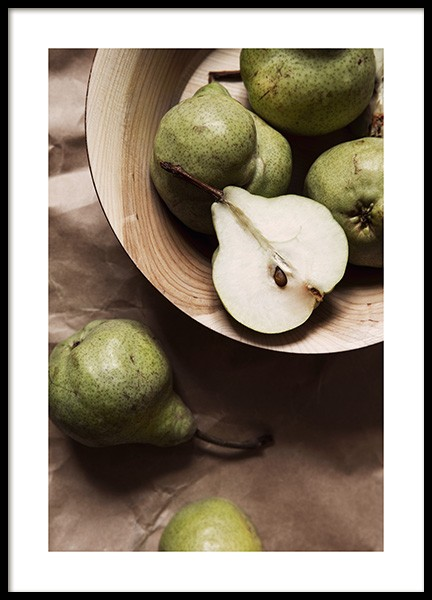 Pears Poster in the group Posters & Prints / Kitchen at Desenio AB (12818)