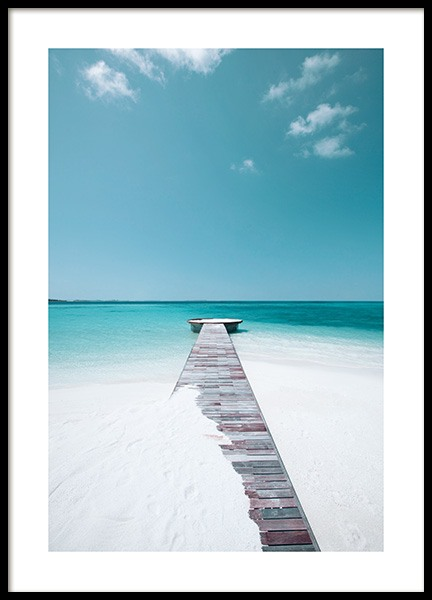 White Sand Beach Poster in the group Posters & Prints / Nature at Desenio AB (12835)