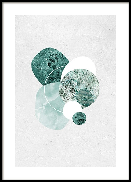Mint Marble Poster in the group Posters & Prints / Art prints at Desenio AB (12846)