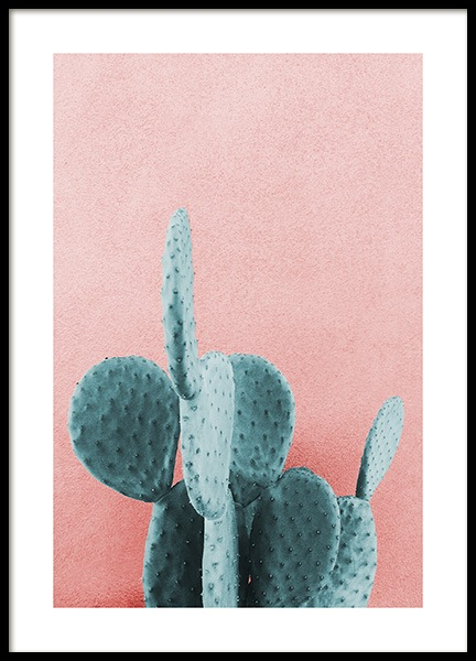 Mint Cactus Poster in the group Posters & Prints / Sizes / 50x70cm | 20x28 at Desenio AB (12852)