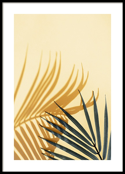 Palm Shadow Yellow Poster in the group Posters & Prints / Photography at Desenio AB (12862)
