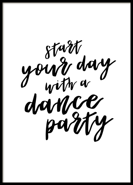 Dance Party Poster in the group Posters & Prints / Typography & quotes at Desenio AB (12877)