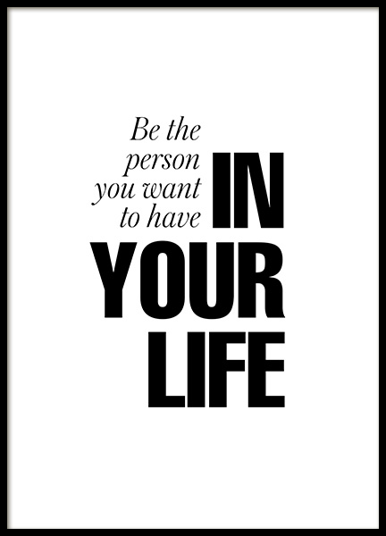 In Your Life Poster in the group Posters & Prints / Typography & quotes at Desenio AB (12879)