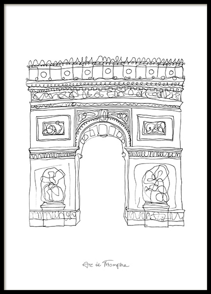 The Arc de Triomphe Poster in the group Posters & Prints / Black & white at Desenio AB (12921)