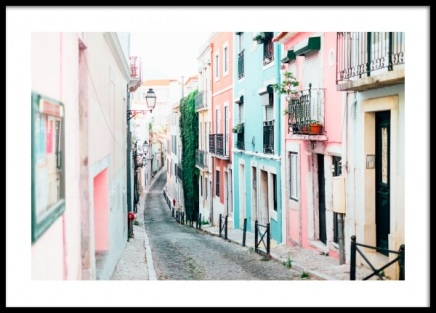 Lisbon Pastel Street Poster in the group Posters & Prints / Photography at Desenio AB (12927)