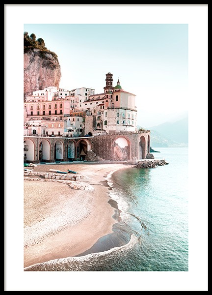Amalfi Cityscape Poster in the group Posters & Prints / Nature / Beaches at Desenio AB (12931)
