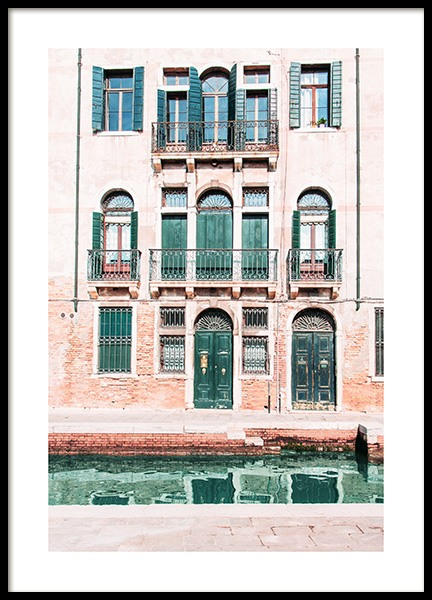Venice Facade Poster in the group Posters & Prints / Photography at Desenio AB (12934)