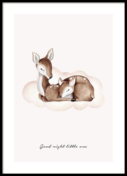 Good Night Little One Poster in the group Posters & Prints / Kids posters at Desenio AB (13073)
