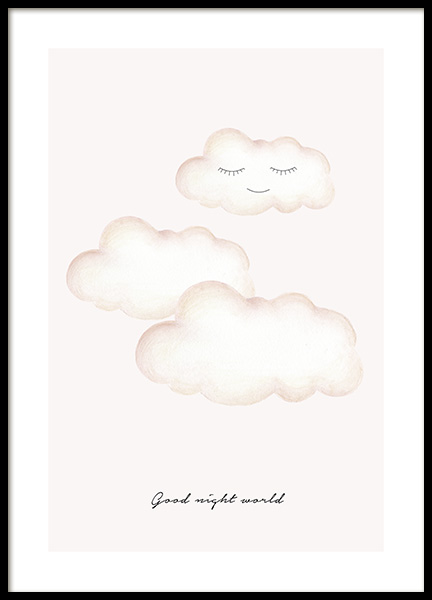 Good Night World Poster in the group Posters & Prints / Kids posters at Desenio AB (13074)
