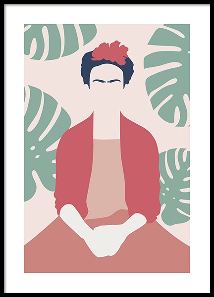 Frida Kahlo Abstract Poster in the group Posters & Prints / Art prints at Desenio AB (13095)