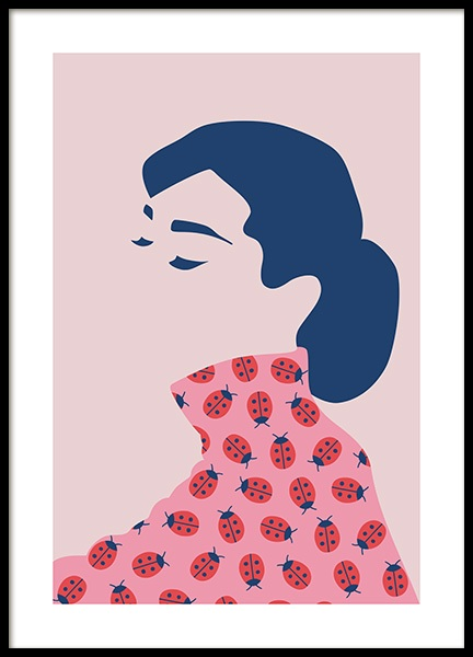Audrey Hepburn Abstract Poster in the group Posters & Prints / Art prints at Desenio AB (13099)