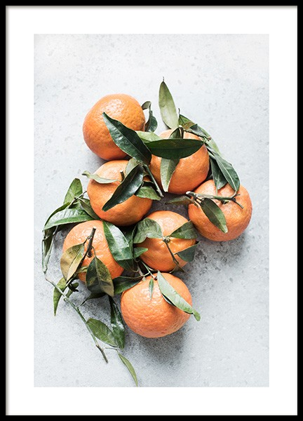 Tangerines Poster in the group Posters & Prints / Kitchen at Desenio AB (13104)