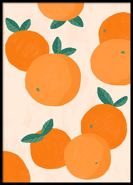 Oranges Illustration Poster in the group Posters & Prints / Kitchen at Desenio AB (13105)