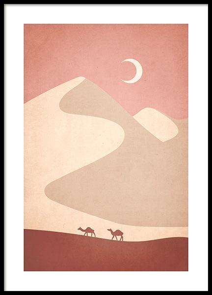 Graphic Desert Poster in the group Posters & Prints / Graphical at Desenio AB (13119)