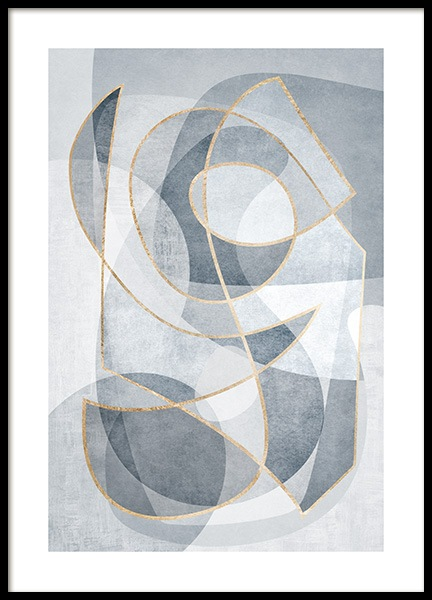 Abstract Blues No2 Poster in the group Posters & Prints / Art prints at Desenio AB (13121)