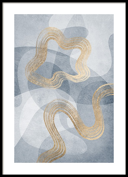 Golden Swirls No1 Poster in the group Posters & Prints / Art prints at Desenio AB (13122)