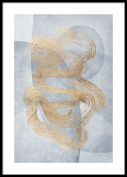 Golden Swirls No2 Poster in the group Posters & Prints / Art prints at Desenio AB (13123)