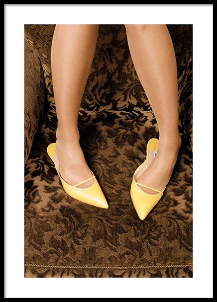 Yellow Heels Poster in the group Posters & Prints / Photography at Desenio AB (13143)