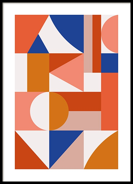 Geometric Puzzle Poster in the group Posters & Prints / Graphical at Desenio AB (13144)
