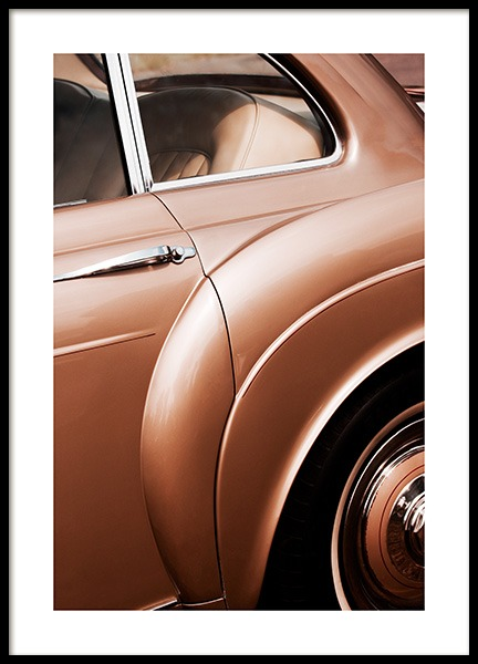 Bronze Car Poster in the group Posters & Prints / Photography at Desenio AB (13147)