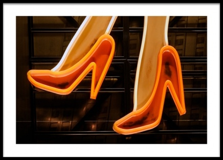 Neon Heels Poster in the group Posters & Prints / Photography at Desenio AB (13150)