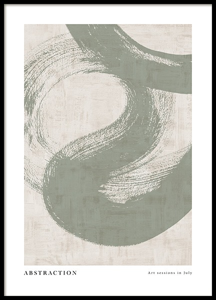 Green Abstraction No1 Poster