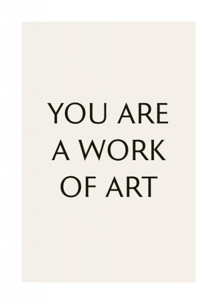 A Work of Art Poster in the group Posters & Prints / Typography & quotes at Desenio AB (13172)