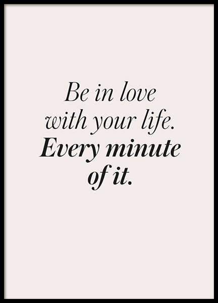 Be in Love Poster in the group Posters & Prints / Text posters at Desenio AB (13181)