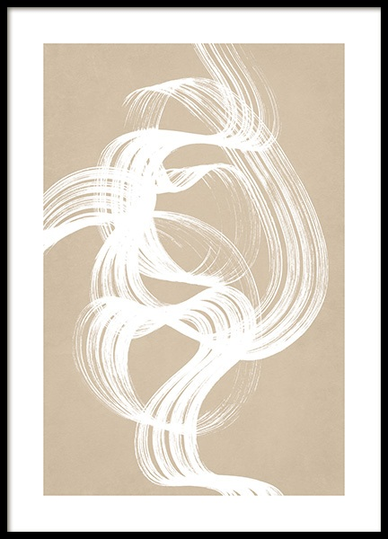 White Brush Stroke No2 Poster in the group Posters & Prints / Art prints at Desenio AB (13211)