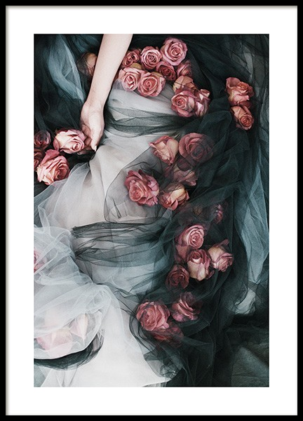 Roses and Tulle Poster in the group Posters & Prints / Photography at Desenio AB (13218)