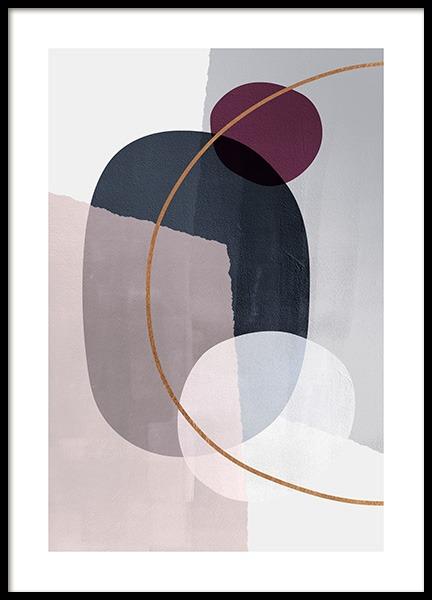 Abstract Color Blocks No2 Poster