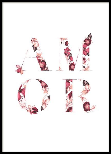 Floral Amor Poster