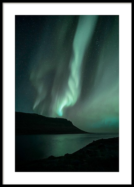 Iceland Northern Lights Poster in the group Posters & Prints / Nature at Desenio AB (13232)