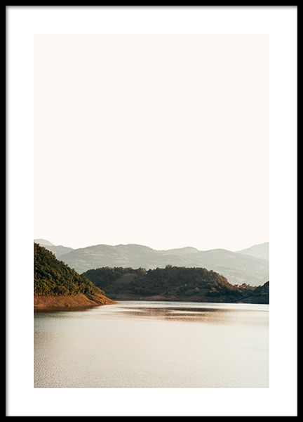 Lake in Sunset Poster