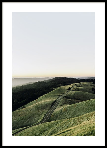 Hilly Road Poster