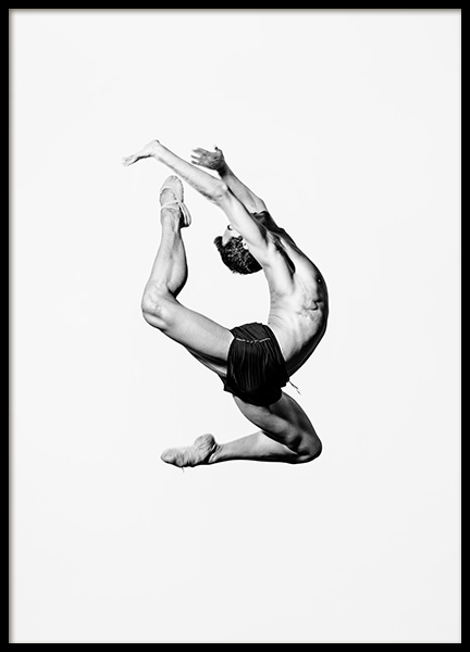 Dance More Ballet Poster in the group Posters & Prints / Black & white at Desenio AB (13244)