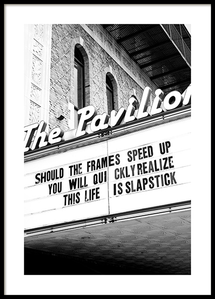 The Pavilion Poster in the group Posters & Prints / Black & white at Desenio AB (13252)