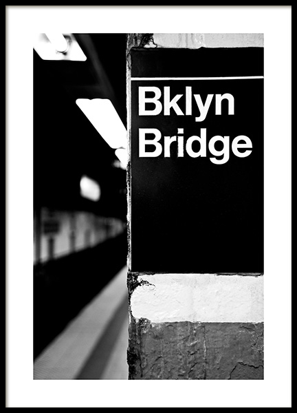 Bklyn Bridge Poster in the group Posters & Prints / Black & white at Desenio AB (13253)