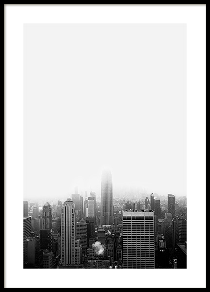 NYC Skyline Poster in the group Posters & Prints / Black & white at Desenio AB (13258)