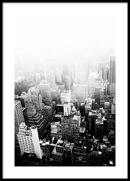 New York Clouds Poster in the group Posters & Prints / Black & white at Desenio AB (13259)