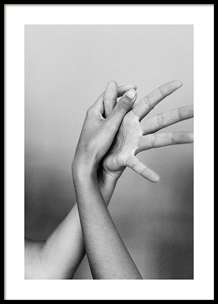 Entangled Fingers No1 Poster in the group Posters & Prints / Black & white at Desenio AB (13260)